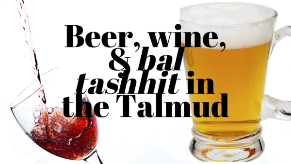 Beer, Wine, and Bal Tashchit in the Talmud with Professor Tanhum Yoreh