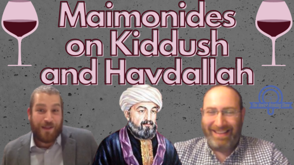 Maimonides on Kiddush and Havdallah
